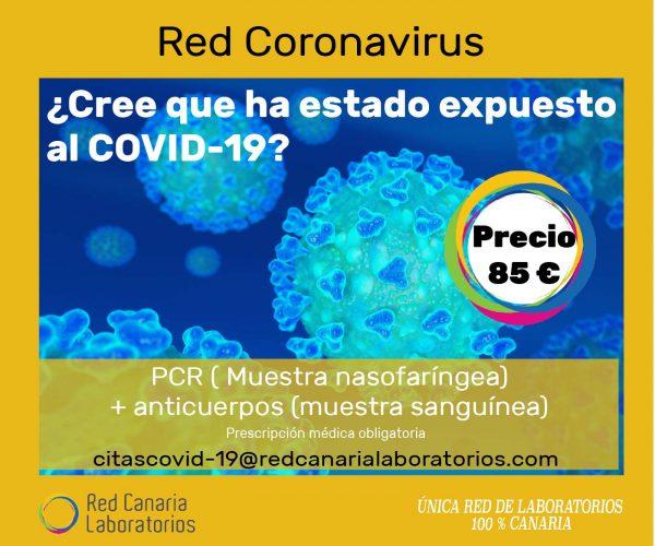 Test PCR + Anticuerpos en Canarias